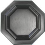 18″ Black Vinyl Raised Panel Octagon