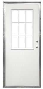 36 X 76 Kinro Out Swing Exterior Door With Vertical Sliding Window